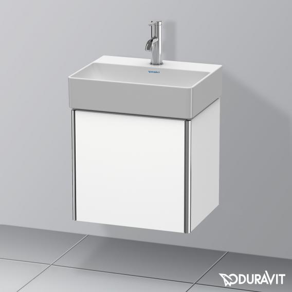 Duravit XSquare Waschtischunterschrank mit 1 Tür Front weiß matt / Korpus weiß matt