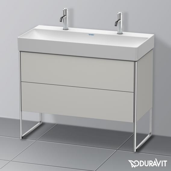 Duravit XSquare Waschtischunterschrank mit 2 Auszügen Front betongrau matt / Korpus betongrau matt, ohne Einrichtungssystem