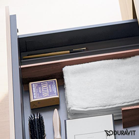 Duravit XSquare Waschtischunterschrank für Konsole mit 2 Auszügen Front weiß matt / Korpus weiß matt, mit Einrichtungssystem Nussbaum