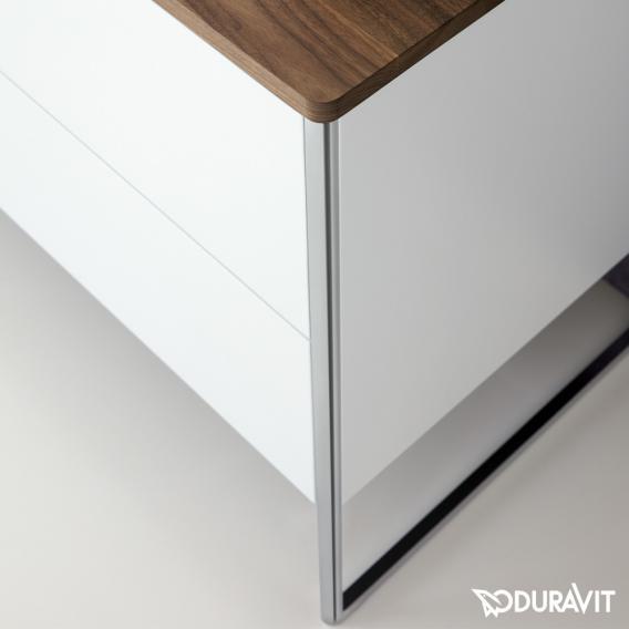 Duravit XSquare Waschtischunterschrank für Konsole mit 4 Auszügen Front basalt matt / Korpus basalt matt, mit Einrichtungssystem Nussbaum