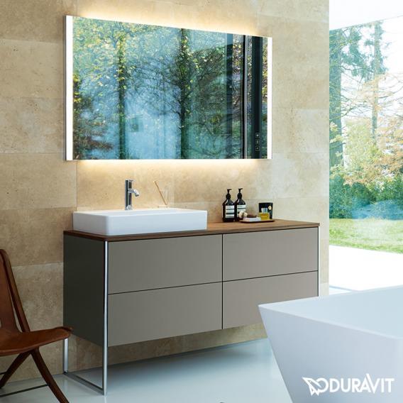 Duravit XSquare Waschtischunterschrank für Konsole mit 4 Auszügen Front betongrau matt / Korpus betongrau matt, ohne Einrichtungssystem