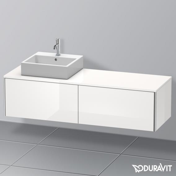 duravit xsquare waschtischunterschrank f r konsole mit 2 ausz gen front wei hochglanz korpus. Black Bedroom Furniture Sets. Home Design Ideas