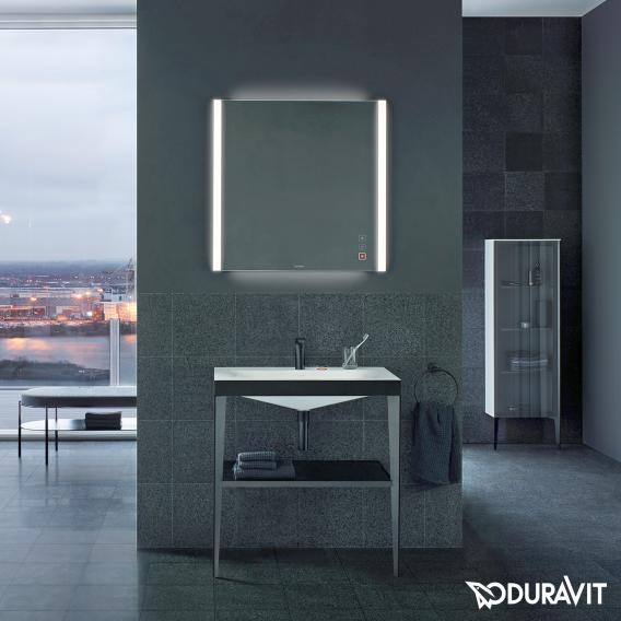 Duravit XViu Spiegel mit LED-Beleuchtung, Icon Version champagner matt
