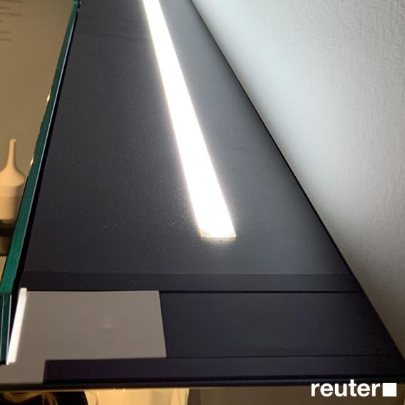 Duravit XViu Spiegelschrank mit LED-Beleuchtung, Icon Version schwarz matt