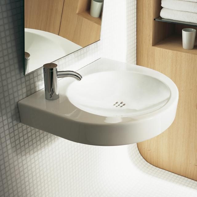 Duravit Architec Waschtisch barrierefrei, mit keramischem Ablaufsieb weiß, mit 1 Hahnloch