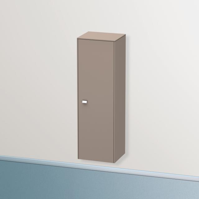 Duravit Brioso Halbhochschrank mit 1 Tür Front basalt matt/Korpus basalt matt, Griff chrom