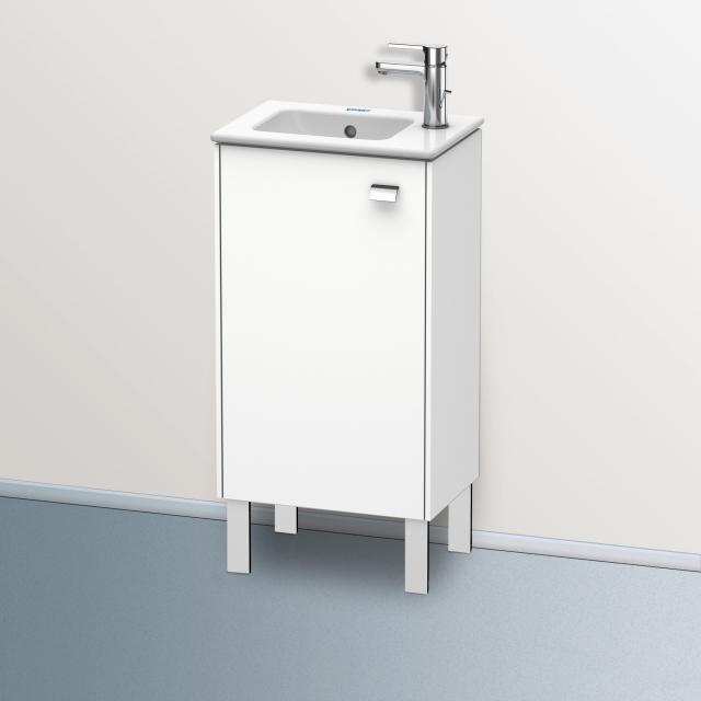 Duravit Brioso Handwaschbeckenunterschrank mit 1 Tür Front weiß matt/Korpus weiß matt, Griff chrom