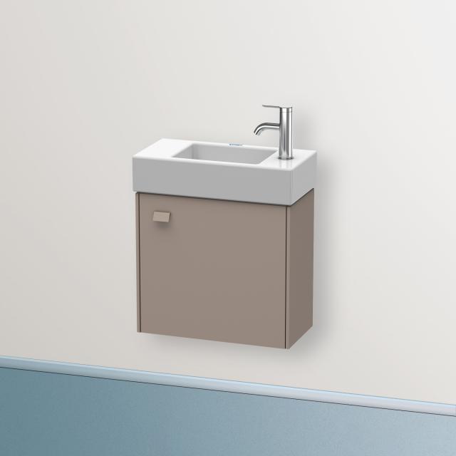 Duravit Brioso Handwaschbeckenunterschrank mit 1 Tür Front basalt matt/Korpus basalt matt, Griff basalt matt