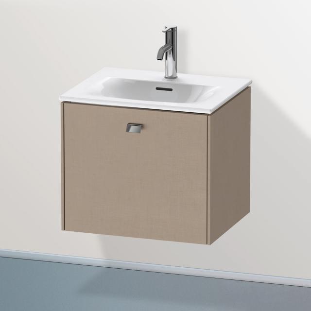 Duravit Brioso Handwaschbeckenunterschrank mit 1 Auszug Front leinen/Korpus leinen, Griff chrom