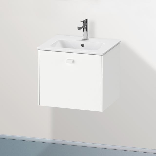 Duravit Brioso Handwaschbeckenunterschrank Compact mit 1 Auszug Front weiß matt / Korpus weiß matt, Griff weiß matt