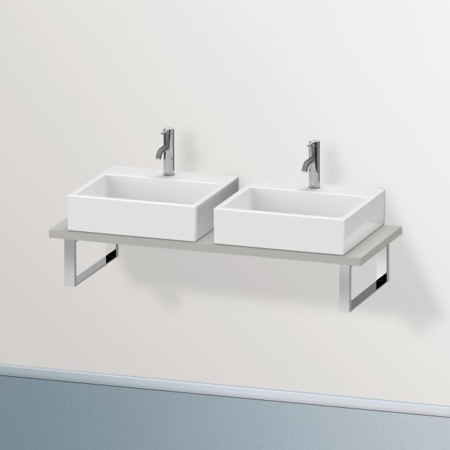 Duravit Brioso Konsole für 2 Aufsatz-/Einbauwaschtische betongrau matt