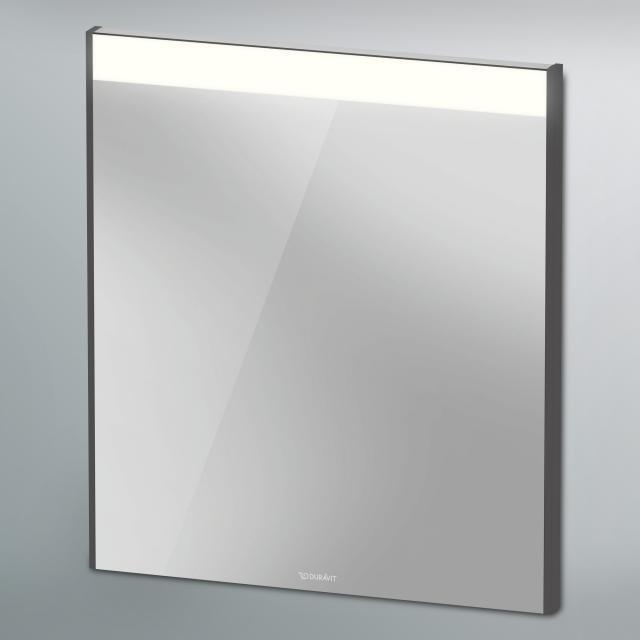 Duravit Brioso Spiegel mit LED-Beleuchtung graphit matt
