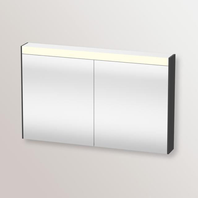 Duravit Brioso Spiegelschrank mit LED-Beleuchtung graphit matt