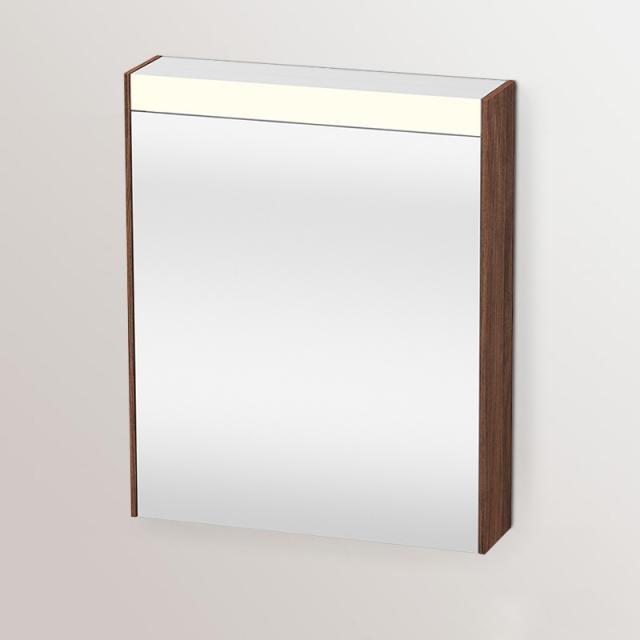 Duravit Brioso Spiegelschrank mit LED-Beleuchtung nussbaum dunkel