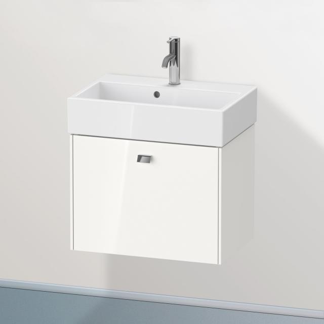 Duravit Brioso Waschtischunterschrank Compact mit 1 Auszug Front weiß hochglanz / Korpus weiß hochglanz, Griff chrom
