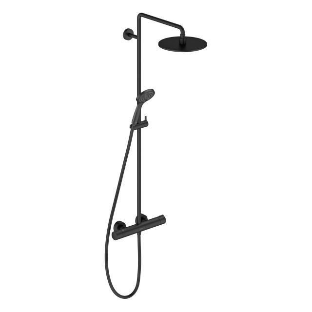 Duravit C.1 Shower System mit Brausethermostat schwarz matt