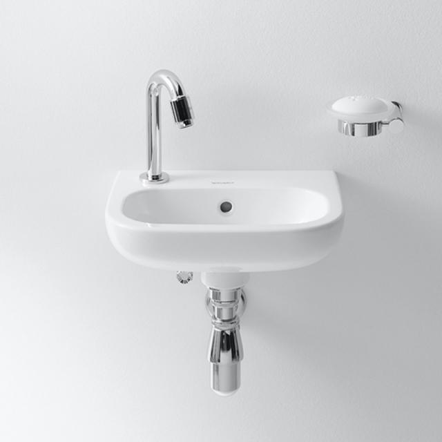 Duravit D-Code Handwaschbecken weiß, mit Hahnloch links