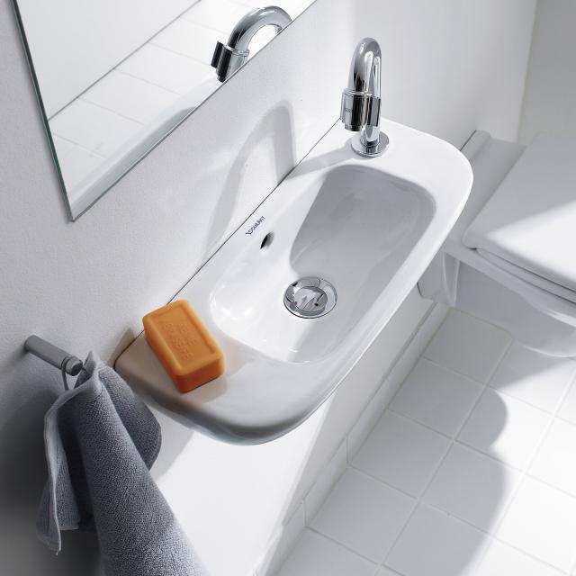 Duravit D-Code Handwaschbecken weiß, mit Hahnloch rechts