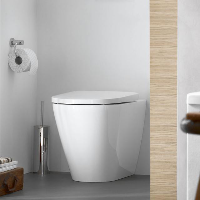 Duravit D-Neo Stand-Tiefspül-WC, rimless, back to wall weiß, mit WonderGliss