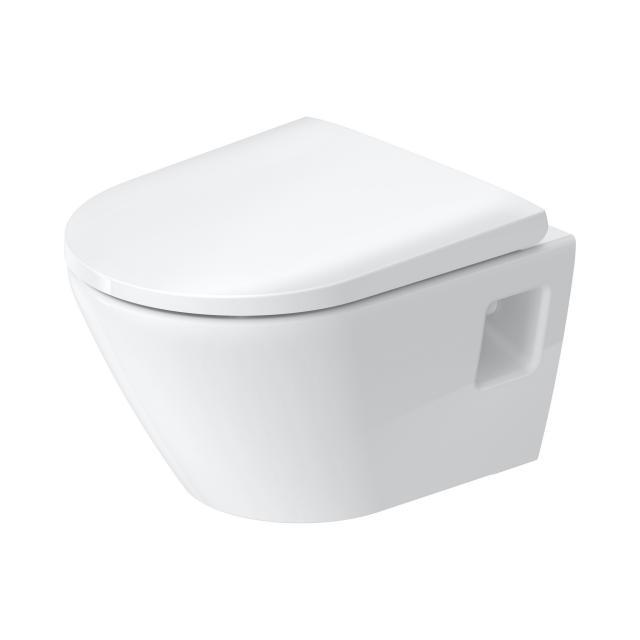 Duravit D-Neo Wand-Tiefspül-WC Compact, rimless, mit WC-Sitz weiß, mit HygieneGlaze
