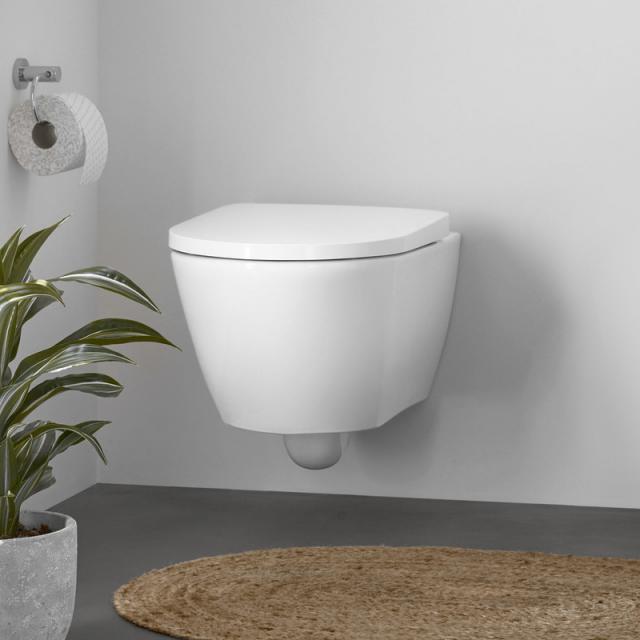 Duravit D-Neo Wand-Tiefspül-WC, rimless, mit WC-Sitz weiß, mit WonderGliss
