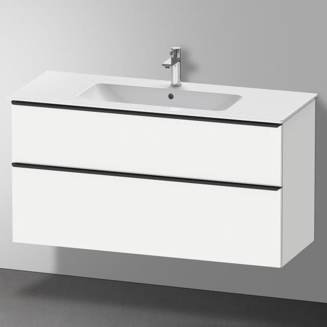 Duravit D-Neo Waschtischunterschrank mit 2 Auszügen Front weiß matt / Korpus weiß matt