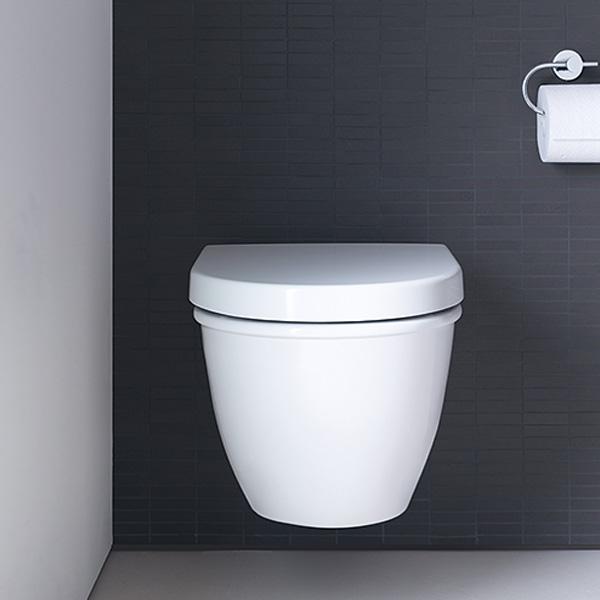 Duravit Darling New Wand-Tiefspül-WC, verlängerte Ausführung weiß, mit WonderGliss