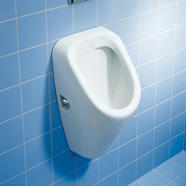 Duravit Duraplus Urinal, Zulauf hinten weiß, mit Zielobjekt