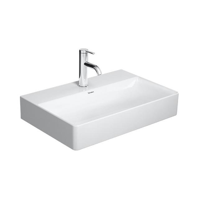 Duravit DuraSquare Waschtisch Compact weiß, mit WonderGliss, mit 1 Hahnloch, ungeschliffen
