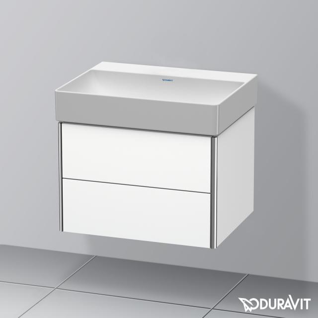 Duravit DuraSquare Waschtisch mit XSquare Waschtischunterschrank mit 2 Auszügen weiß, ohne Hahnloch
