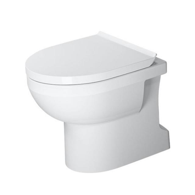 Duravit DuraStyle Basic Stand-Tiefspül-WC, rimless weiß, mit HygieneGlaze
