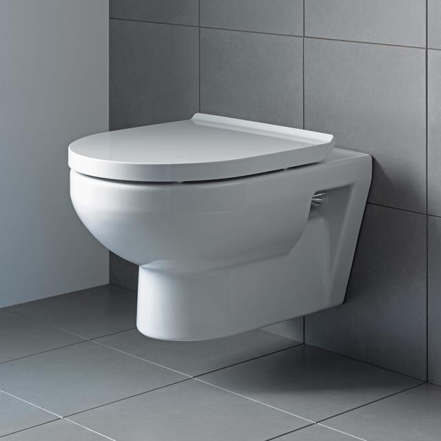 Duravit DuraStyle Basic Wand-Tiefspül-WC, rimless weiß, mit HygieneGlaze