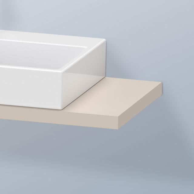 Duravit DuraStyle Konsole für 1 Aufsatz-/Einbauwaschtisch taupe matt
