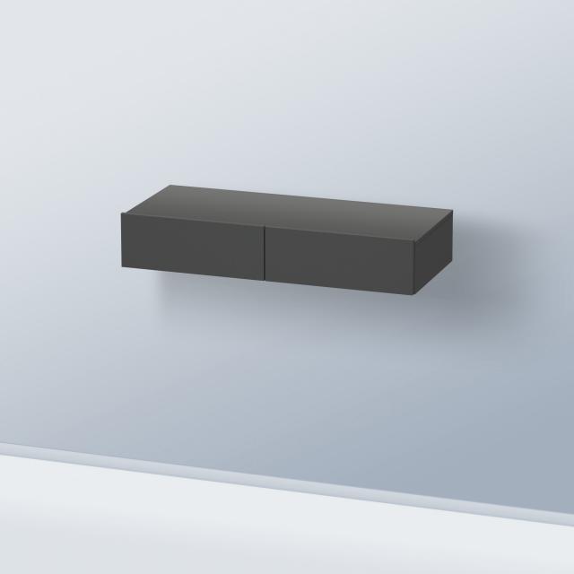 Duravit DuraStyle Schubkastenablage mit 2 Auszügen Front graphit matt / Korpus graphit matt