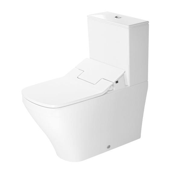 Duravit DuraStyle Stand-Tiefspül-WC Set, mit NEUEM SensoWash Slim WC-Sitz und Spülkasten weiß, mit WonderGliss, Spülkasten mit Anschluss rechts oder links