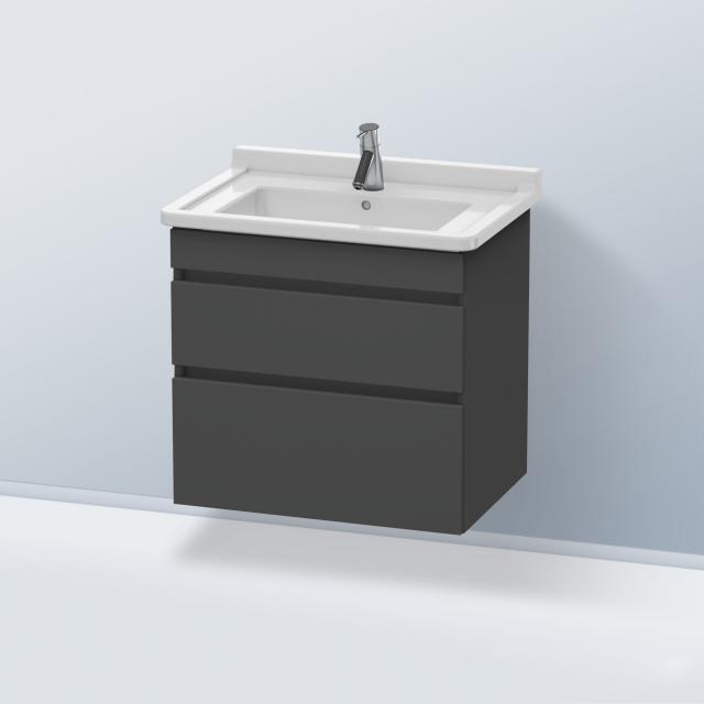 Duravit DuraStyle Waschtischunterschrank mit 2 Auszügen Front graphit matt / Korpus graphit matt
