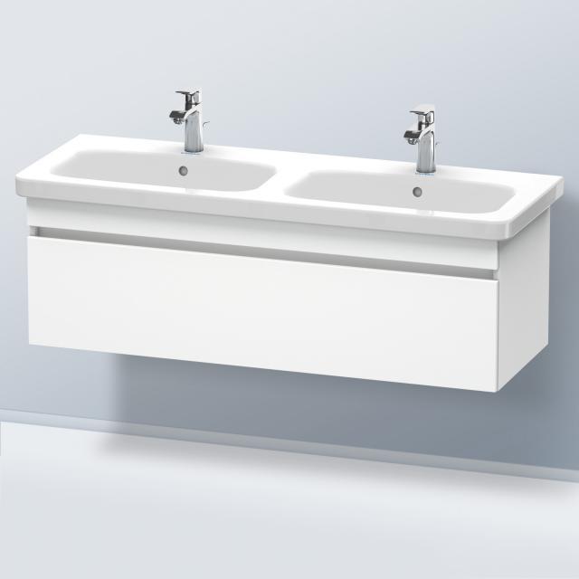 Duravit Durastyle Waschtischunterschrank für Doppelwaschtisch mit 1 Auszug Front weiß matt / Korpus weiß matt