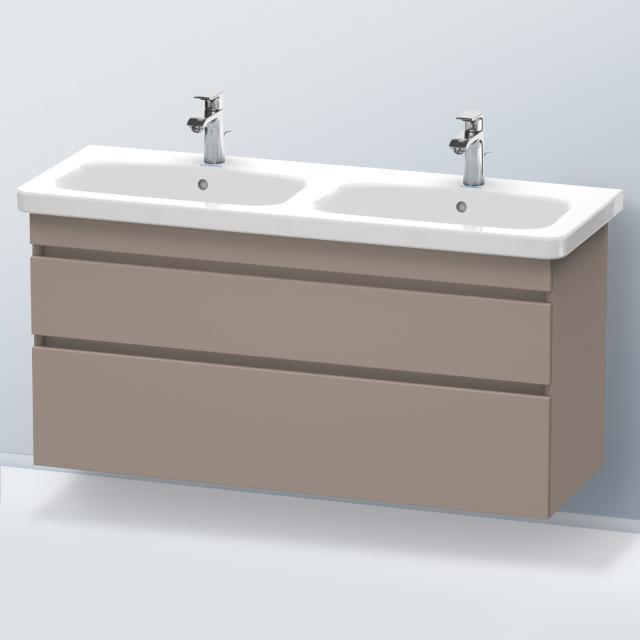 Duravit DuraStyle Waschtischunterschrank für Doppelwaschtisch mit 2 Auszügen Front basalt matt / Korpus basalt matt