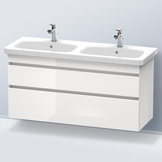 Duravit DuraStyle Waschtischunterschrank für Doppelwaschtisch mit 2 Auszügen Front weiß hochglanz / Korpus weiß hochglanz