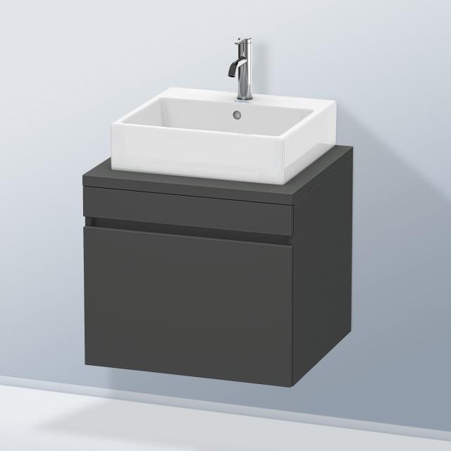 Duravit DuraStyle Waschtischunterschrank für Konsole mit 1 Auszug Front graphit matt / Korpus graphit matt