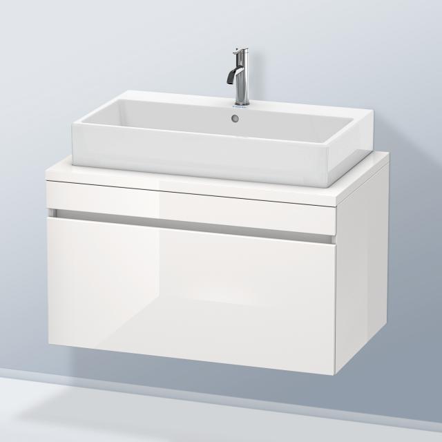 Duravit DuraStyle Waschtischunterschrank für Konsole mit 1 Auszug Front weiß hochglanz / Korpus weiß hochglanz