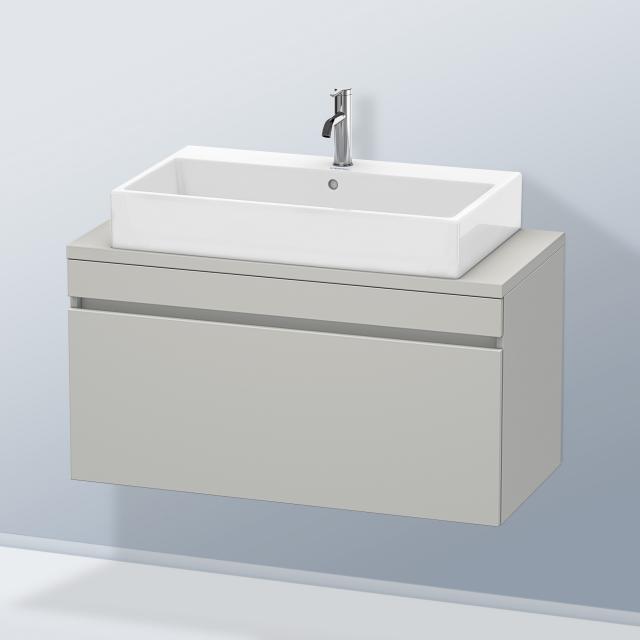 Duravit DuraStyle Waschtischunterschrank für Konsole Compact mit 1 Auszug Front betongrau matt / Korpus betongrau matt
