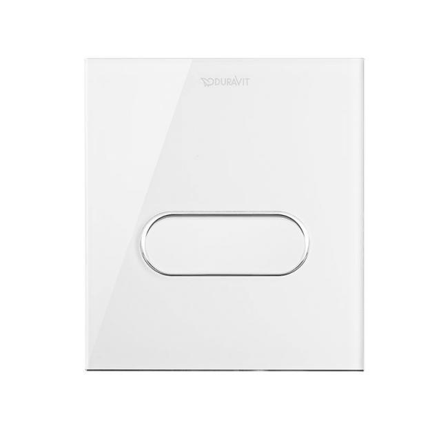 Duravit DuraSystem Betätigungsplatte A1 für Urinal, Glas weiß/weiß
