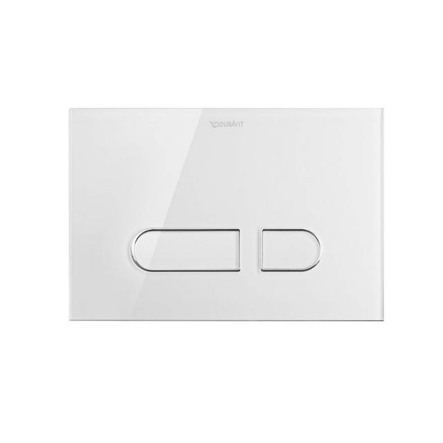 Duravit DuraSystem Betätigungsplatte A1 für WC, Glas weiß/weiß