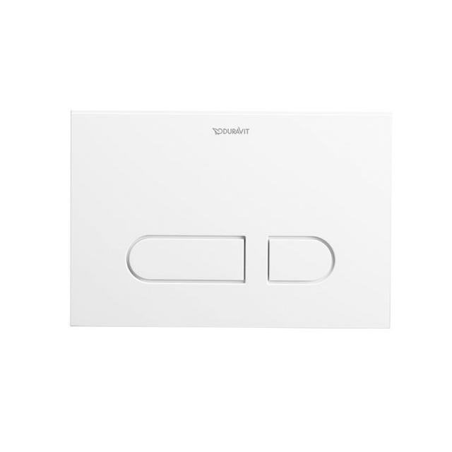 Duravit DuraSystem Betätigungsplatte A1 für WC, Kunststoff weiß/weiß