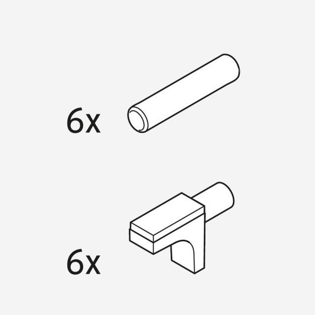 Duravit Glasfachbodenträger für L-Cube Hochschrank