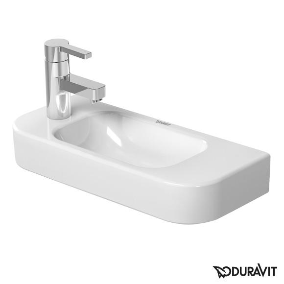 Duravit Happy D.2 Handwaschbecken weiß, mit WonderGliss, mit 1 Hahnloch links