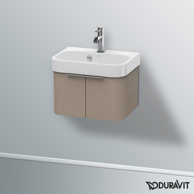 Duravit Happy D.2 Handwaschbeckenunterschrank mit 2 Türen Front leinen / Korpus leinen