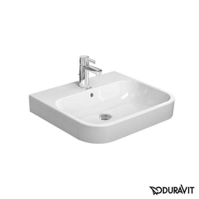 Duravit Happy D.2 Möbelwaschtisch weiß, mit WonderGliss, mit 1 Hahnloch