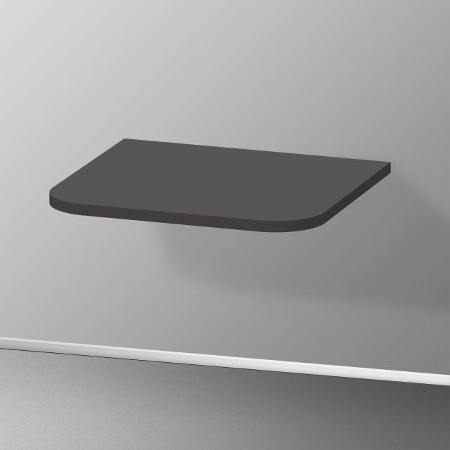 Duravit Happy D.2 Plus Abdeckplatte für Halbhochschränke graphit supermatt